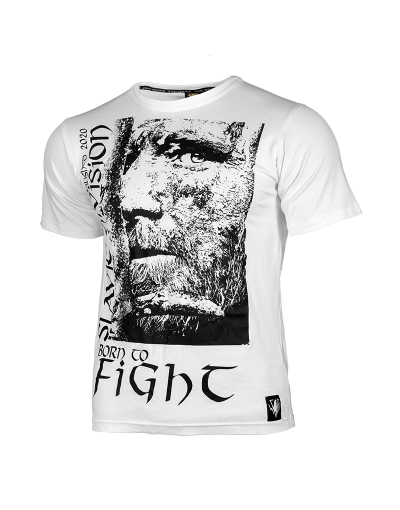 T-SHIRT BORN TO FIGHT - BIAŁY