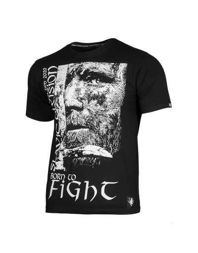 T-SHIRT BORN TO FIGHT - CZARNY